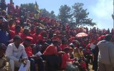 FILE: There are around 2,000 Cosatu members already at Mohlakeng Stadium for Gauteng rally. Picture: Govan Whittles/EWN.
