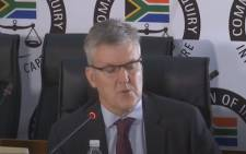 A screenshot of EOH chief executive Stephen van Coller testifying at the state capture commission on 23 November 2020. Picture: SABC Digital News/Youtube