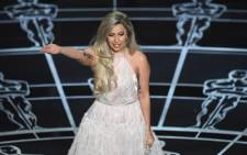 FILE: Lady Gaga performs on stage at the 87th Oscars in February 2015 in Hollywood. Picture: AFP
