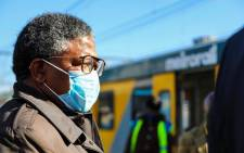 FILE: Transport Minister Fikile Mbalula inspecting a Metrorail train's readiness to operate during COVID lockdown on Tuesday, 30 June 2020. Picture: @MbalulaFikile/Twitter