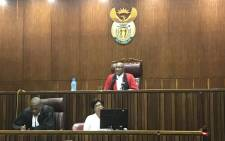 Judge Collin Matshitse delivers his judgment in the Baby Daniel murder trial on 20 December 2018 in the High Court in Johannesburg. Picture: Thando Kubheka/EWN