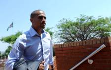 Soccer player Bryce Moon, accused of killing domestic worker Mavis Ncube in a car accident, is seen outside the Randburg Magistrate's Court on Monday, 8 October 2012. Picture: Werner Beukes/SAPA.
