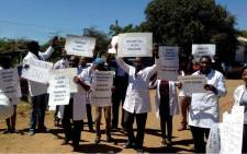 FILE: Doctors have been on strike for weeks demanding a pay hike. Picture: @ZHDAofficial/Twitter.