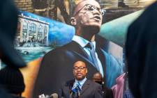 Reggie Wood during a news conference to present new evidence in the assassination of civil rights activists Malcolm-X on 20 February 2021 in New York City. Picture: AFP