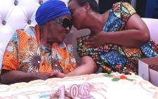Gauteng Health MEC Dr Gwen Ramokgopa joins the celebration of Ester Mabitsela's 106th birthday on Saturday in Atteridgeville, Pretoria. Picture: @GautengHealth/Twitter.
