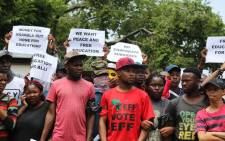 FILE: University students marching to the Union Buildings for free, decolonised and quality education. Picture: Christa Eybers/EWN