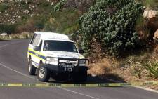 Police on the scene after a body was discovered on Table Mountain on 30 May 2017. Picture: Kevin Brandt/EWN