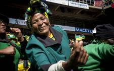An ANC Women's League member dances in celebration at the ANC's Siyanqoba rally ahead of the the 2016 local government elections. Picture: Reinart Toerien/EWN