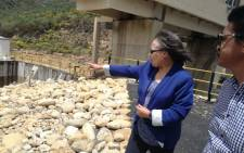 FILE: Cape Town Mayor Patricia De Lille during a visit to the Wemmershoek Dam on 15 November 2017. Picture: @PatriciaDeLille/Twitter.