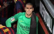 Outgoing Barcelona goalkeeper Victor Valdes. Picture: Facebook.