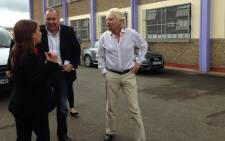 Sir Richard Branson visited Lavender Hill School in Cape Town on 31 October 2013. Picture: Carmel Loggenberg/EWN