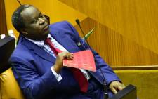 FILE: Finance Minister Tito Mboweni prepares to present his 2019 Budget Speech at the Plenary of the National Assembly. Picture: GCIS.