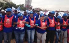 FILE: Hundreds of DA supporters marched through the Johannesburg CBD demanding better and more jobs on 23 April 2014. Picture: Vumani Mkhize/EWN.