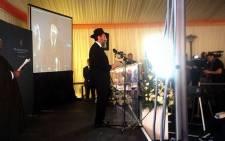 Rabbi David Hazdan leads congregation in prayer and song at the Nelson Mandela Centre of Memory prayer service on Sunday 8 December 2013. Picture: Elisha Bholanath.