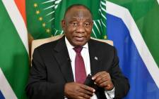 President Cyril Ramaphosa delivers a national message during the virtual commemoration of Human Rights Day. Picture: GCIS.