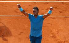 Spain's Rafael Nadal celebrates winning French Open semifinal against Argentine Juan Martin del Potro. Picture: @rolandgarros/Twitter.