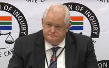 A screengrab of former Bosasa chief operations officer Angelo Agrizzi giving testimony at the Zondo Commission on 16 January 2019.