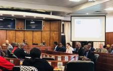 The Independent Electoral Commission on 29 May briefed Parliament's Portfolio Committee on Home Affairs on its preparations for the 2019 national and provincial elections. Picture: @SAgovnews/Twitter.