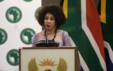 FILE: Minister of Human Settlements, Water & Sanitation Lindiwe Sisulu. Picture: Kayleen Morgan/EWN.