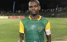 Golden Arrows defender Nkanyiso Mngwengwe. Picture: @AmaZuluFootball/Twitter.