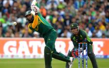 Proteas's Hashim Amla in action against Pakistan during the Champions Trophy.Picture: AFP