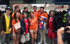 Netherlands supporters in Sao Paulo.  Picture: Christa Eybers/EWN