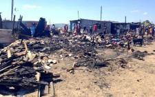FILE: Several fires have occurred in areas such as Khayelitsha, Philippi and Strand this weekend. Picture: Rahima Essop/EWN.