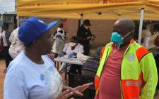 North West Health MEC Madoda Sambatha during COVID-19 screening campaign in Bojanala District. Picture: Twitter/@NorthWestDoH