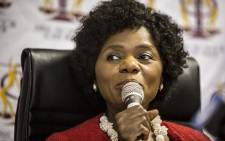 Outgoing Public protector Thuli Madonsela held her last press briefing as the country's public protector in Pretoria on 14 October 2016. Picture: Reinart Toerien/EWN