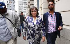 Patricia de Lille leaves the Western Cape High Court. Picture: Bertram Malgas/EWN