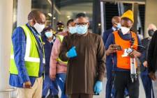 Transport Minister Fikile Mbalula at the Lanseria Int Airport during inspection to ensure adherence to level 3 lockdown regulations, wherein airports are allowed to operate under strict conditions. Picture: Twitter
