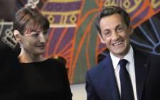 French President Nicolas Sarkozy and his wife Carla Bruni-Sarkozy. Picture: AFP.
