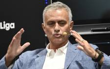 Portuguese football manager Jose Mourinho attends a conference about speed and innovation in football on 12 September 2019 in Madrid, Spain. Picture: AFP