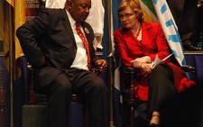 COPE's Mosiua Lekota and DA's Helen Zille. Picture: Taurai Maduna/Eyewitness News