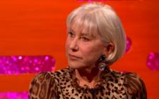 A screengrab of Dame Helen Mirren on 'The Graham Norton Show'.