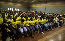ANC members can be seen attending a meeting between the ANC's national working committee and branch members in the Bojanala Region of the North West province on Thursday 26 April 2018. This comes after calls for Premier Supra Mahumapelo to step down. Picture: Ihsaan Haffejee/EWN