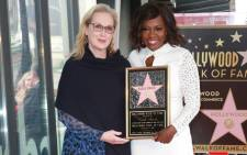 Actors Meryl Streep and Viola Davis attend the Viola Davis Walk Of Fame Ceremony at Hollywood Walk Of Fame on 5 January 2017 in Hollywood, California. Picture: Getty Images for Paramount Pictures/AFP.