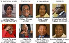 President Jacob Zuma announced dozens of changes to his Cabinet of ministers, including various new and combined portfolios.