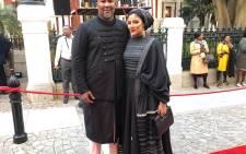ANC MP Mandla Mandela and his wife Raabia arrive for Sona 2019. Picture: Bertram Malgas/EWN