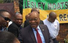 Former President Jacob Zuma visit the Soweto home of the late Winnie Madikizela Mandela on 4 April 2018. Picture: Gia Nicolaides/EWN