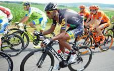MTN-Qhubeka team member, Natnael Berhane climbs to third on GC in Austria after solid ride to Drobatsch. Picture: teammtnqhubeka.com.