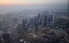 The skyline of Dubai pictured from the Burj Khalifa, the tallest building in the world standing at 828 metres in May 2017. Picture: AFP.