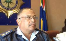 Western Cape Police Commissioner Arno Lamoer briefs the media on the double police killing on 15 October 2012. Picture: Regan Thaw/EWN