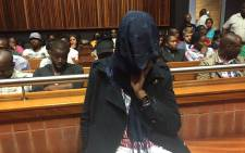 Convicted killer Sindisiwe Manqele sits in the dock during her sentencing at the Palm Ridge Magistrates Court. Picture: Vumani Mkhize/EWN.