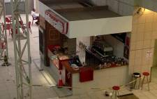 The cafe at Lanseria Airport, west of Johannesburg, will remain closed until more information about the incident becomes available. 21 June 2013. Picture: iWitness