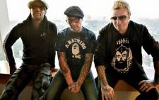 In this file photo taken on August 13, 2015 shows members of the British band The Prodigy, Liam Howlett (R), Keith Flint (C), and Maxim (L) posing prior to an interview in Tokyo. Keith Flint from British band The Prodigy has died at the age of 49, it was reported on March 4, 2019. Picture: AFP.