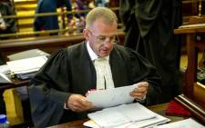 State prosecutor Gerrie Nel sits in court during hearing as the state pleads its case in trying to challenge Oscar Pistorius's culpable homicide conviction on 3 November 2015. Picture: Pool.