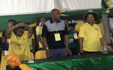 ANC national chairperson Baleka Mbete (wearing hat) at the Mpumalanga ANC provincial general council at the Mbombela Stadium on 1 December 2017. Picture: @MYANC/Twitter