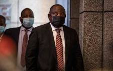 ANC President Cyril Ramaphosa at the Zondo commission of inquiry into state capture on 28 April 2021. Picture: Xanderleigh Dookey Makhaza/Eyewitness News
