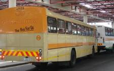 FILE: Golden Arrow buses line up at Cape Town Station to pick up commuters. Picture: EWN
